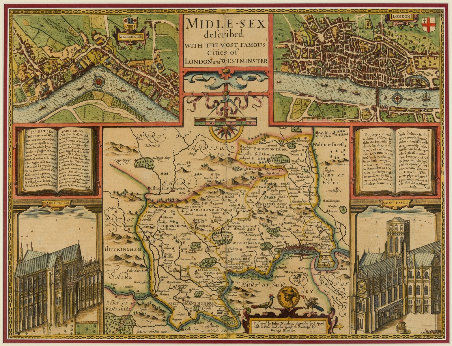 London & environs.- Speed (John) Midle-Sex described with the most famous Cities of London and …
