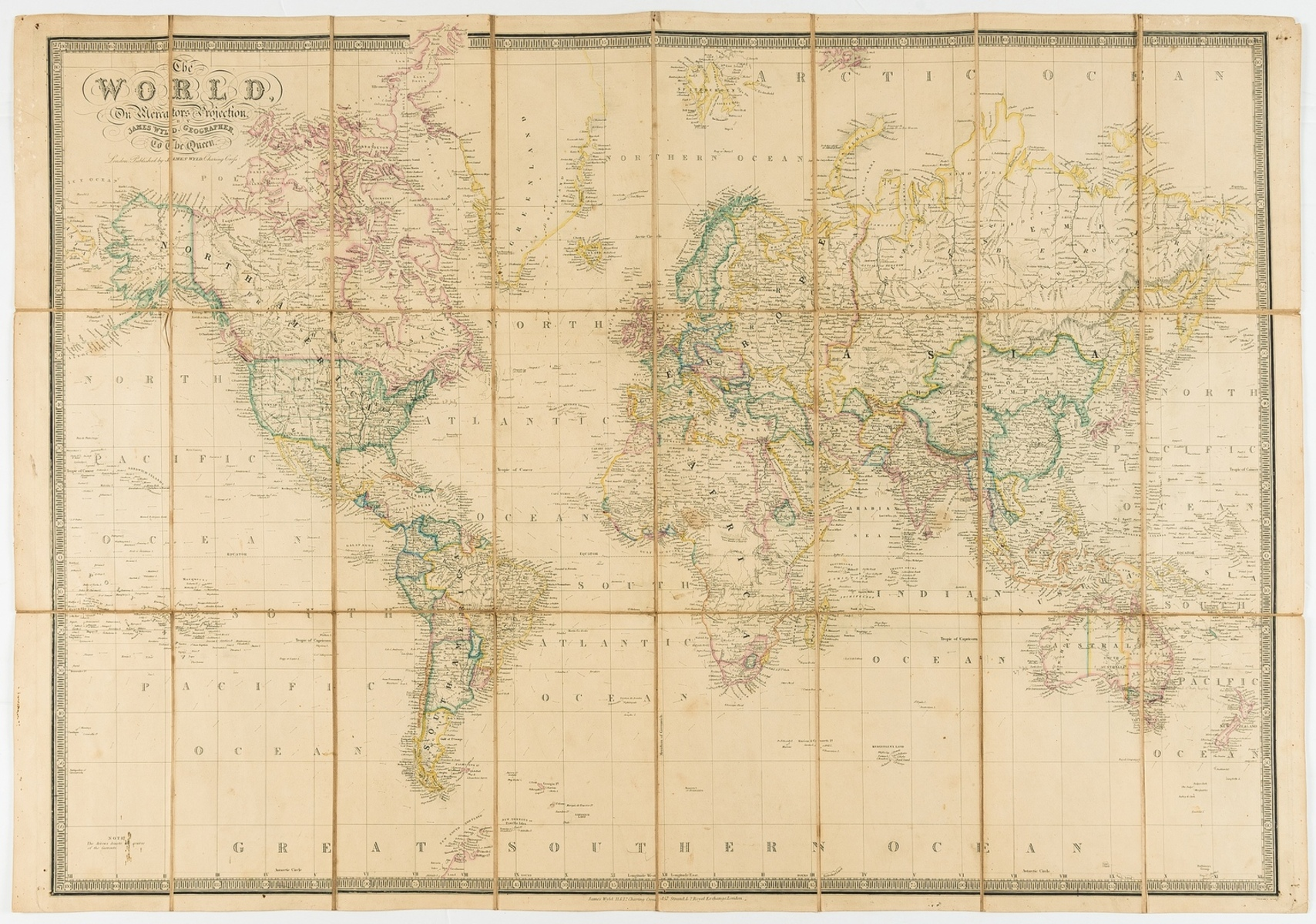 World.- Wyld (James) The World On Mercator's Projection, 1880.