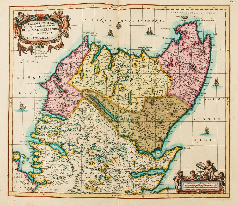 Scotland.- Jansson (Jan) Extimae Scotiae pars Septentrionalis in qua Provinciae Rossia, …