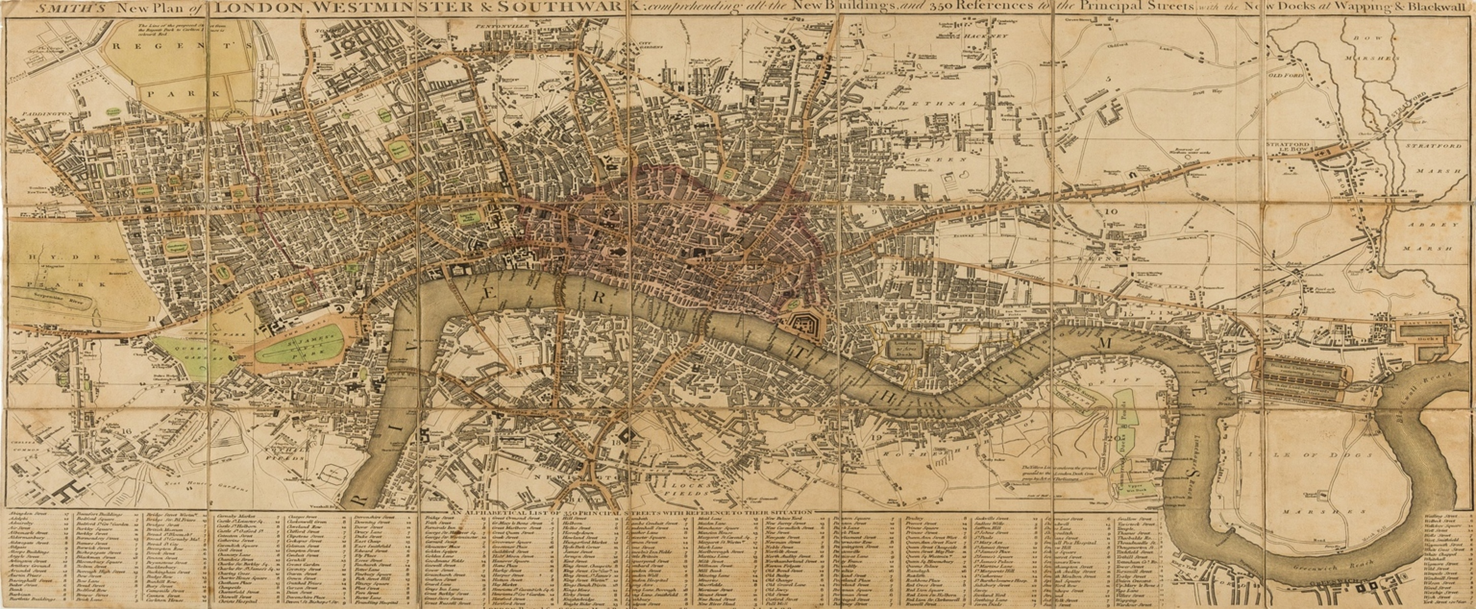 London.- Smith (Charles) Smith's New Plan of London, Westminster & Southwark, 1818.