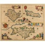 British Isles.- Jansson (Jan) Mona Insula vulgo Anglesy, Mona Insula vulgo The Isle of Man [and] …