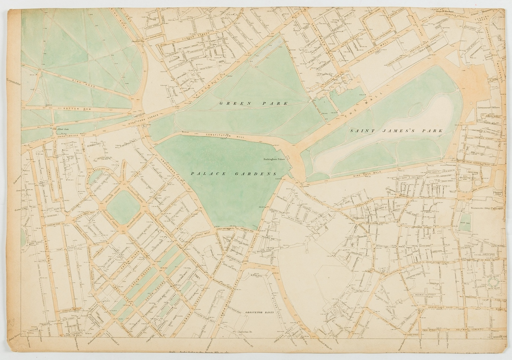 London.- Miscellaneous collection of single sheet maps of London, approx. 90 sheets, 19th century …