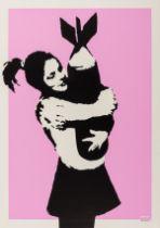 Banksy (b.1974) Bomb Love (Bomb Hugger) (Signed)