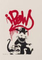 Banksy (b.1974) Gangsta Rat (Signed)