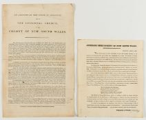 First Australian Bible Society.- Broadside.- Auxiliary Bible Society of New South Wales, …