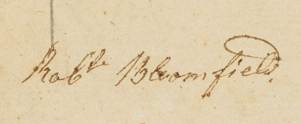 Bloomfield (Robert, poet).- The Monthly Mirror, vol. XI only, Bloomfield's copy with his ink …