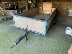 Single axle trailer 10'x 5' on eye hitch