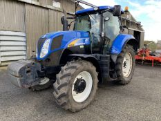 2011 New Holland T6080 tractor YX60 GFE, 2891 hours, 22x 45kg front wafer weights, 520/70R38 rear