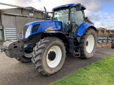 2009 New Holland T7040 tractor YX09 DKJ, 3105 hours, 22x 45kg front wafer weights, 650/65R42 rear