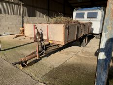 Tye single axle tipping trailer with drop sides