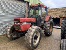 1991 Case 1056XL 4wd tractor, H592 TWE, 10717 hours, runner, 540/1000 PTO, 2 spools, 18.4R38