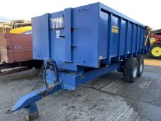 2004 Easterby twin axle 12 ton trailer, hydraulic hetch and sprung drawbar