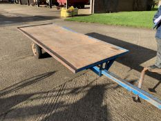 Single axle flat trailer 10.5'x 4'