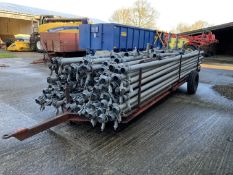 Approximately 100 6m slurry pipes & trailer