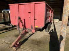 1986 Tye 10 ton twin axle grain trailer