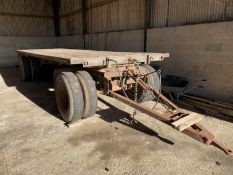Artic 20' bale trailer, timber floor