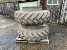 Stocks dual wheels & clamps 18.4R38 20% tread