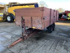 1978 Tye 8 ton twin axle grain trailer with drop sides and extensions