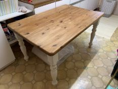 Pine kitchen table & 4 chairs NO VAT