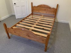 Pine double bed NO VAT