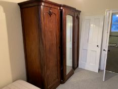 Large mahogany triple wardrobe NO VAT
