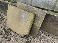 2 paving slabs