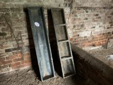 2 galvanised pig troughs