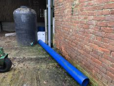Water tank, water butts & pipe