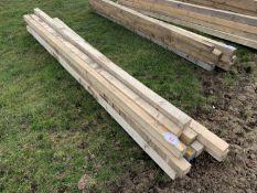 "12no 10'x3""x3"" timbers"