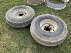 Pair 11.00-16 wheels & tyres