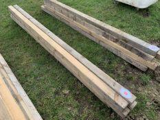 "8no 8'x3""x3"" timbers"