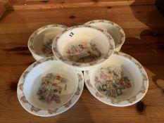 5 Bunnykins dishes