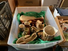 Box of Hornsea & other pottery
