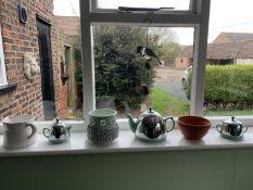Tea set, wind chime etc