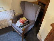 Easy chair & tea towels etc