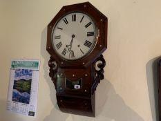 Octagonal wall clock