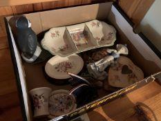 Box of miscellaneous figures etc
