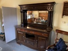 Large mirror backed sideboard
