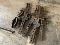 Wheel eradicator tines with brackets
