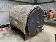 Round bale straw burner, fits 4' bales, previously used for 5 bedroom farm house until change of