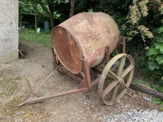 Antique water tank on trolley, believed 100+ years old