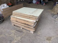 Pallet of approx 30 1x1.2m MDF sheets