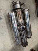 Chimney for straw burner system