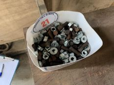Tub of nuts & bolts, believed Kverneland