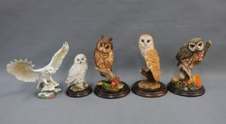 Collection of owls to include Country Artists and Brook & Bentley, etc (4)