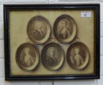 Middleton's of Seton, Aberdeen Family Tree, framed print, in a glazed Hogarth frame, 37 x 29cm