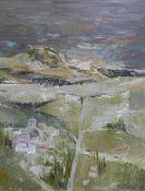 Ronald Renton, Spanish Landscape - Evening, Oil on board, signed and framed under glass, 50 x 60cm