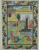 Indian School, gouache on silk, framed under glass, 19 x 26cm