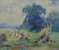 Rural Landscape, Watercolour, apparently unsigned, framed under glass with a giltwood frame, 49 x