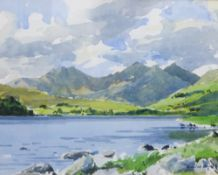 Aldred, Snowdon, Watercolour, Signed and framed under glass, 32 x 24cm